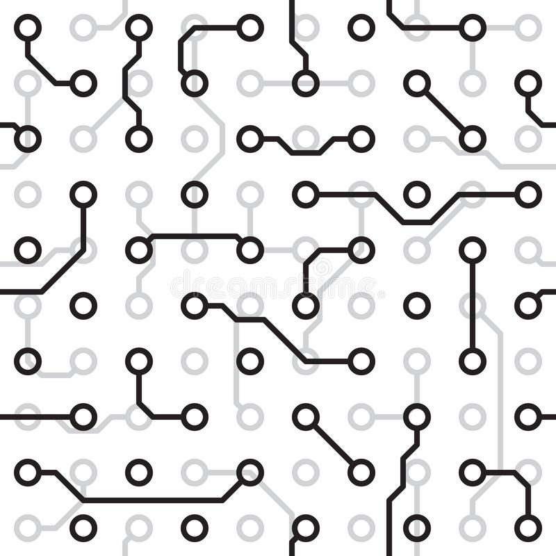 seamless texture - circuit board stock vector