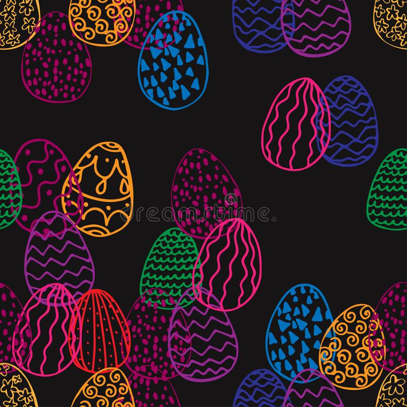 Seamless texture of easter eggs stock illustration