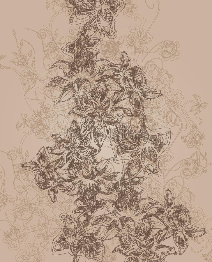 Seamless texture with flowers stock illustration