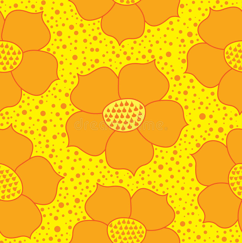 Download Seamless Texture With Flowers Stock Vector - Image: 26597712