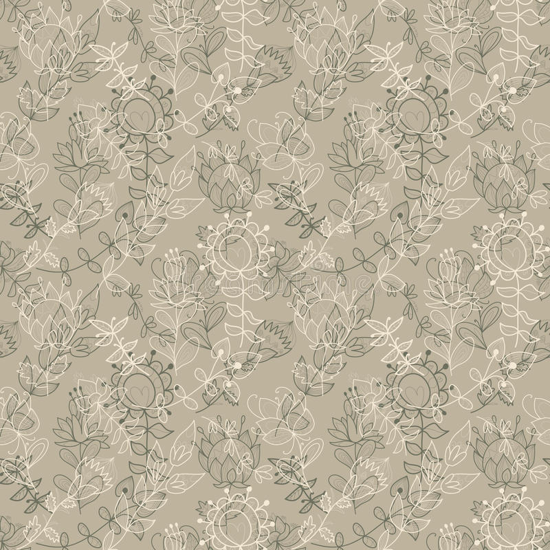 Seamless texture with flowers. Endless floral pattern. Can be used for wallpaper, pattern, backdrop, surface textures. Full color seamless floral background royalty free illustration