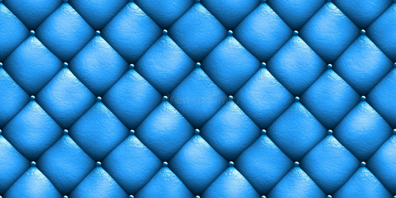 Seamless Texture Leather Upholstery Sofa Blue 3d