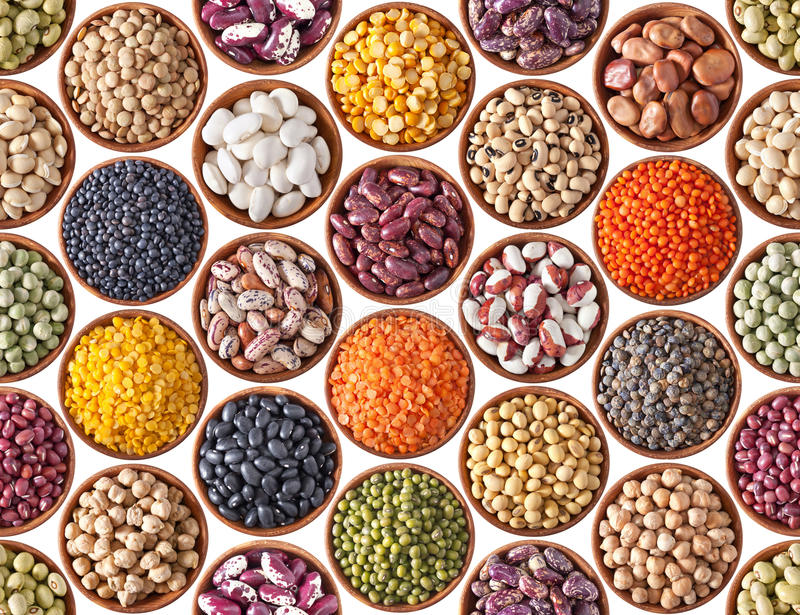 Seamless texture with legumes stock images