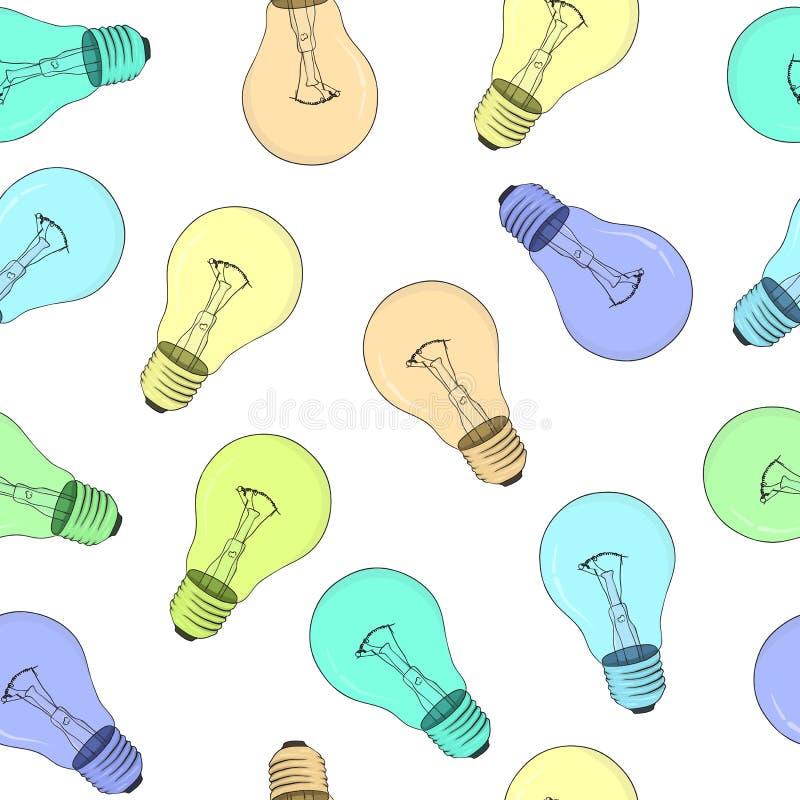 Free Seamless Texture - Light Bulbs - Vector Eps8 Stock Photos - 19040263
