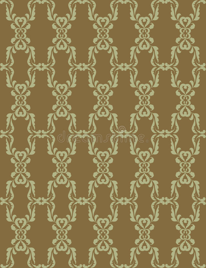 Download Seamless Texture With Light Green Floral Ornament Stock Illustration - Image: 26121690