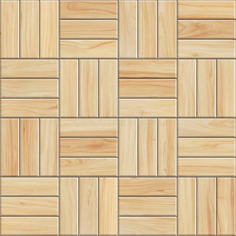 Seamless texture of light wooden parquet. High resolution pattern of checkered wood stock illustration