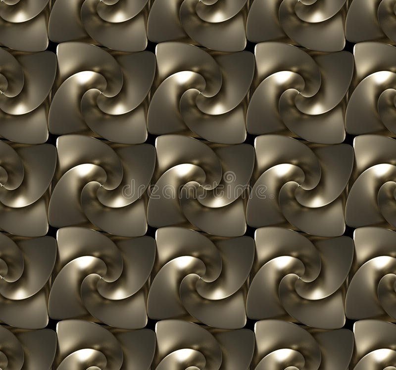 Seamless texture made of golden twirls royalty free stock photo