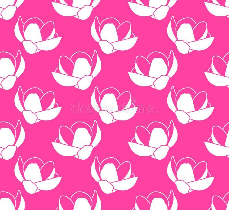 Magnolia flower texture royalty free illustration