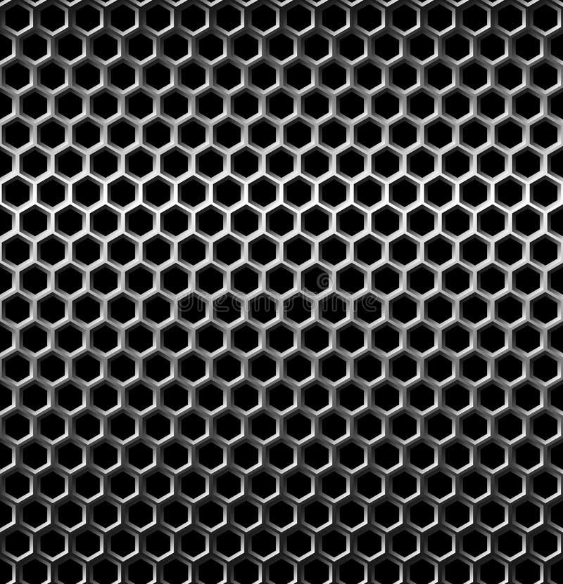 Seamless texture metal grid background stock illustration