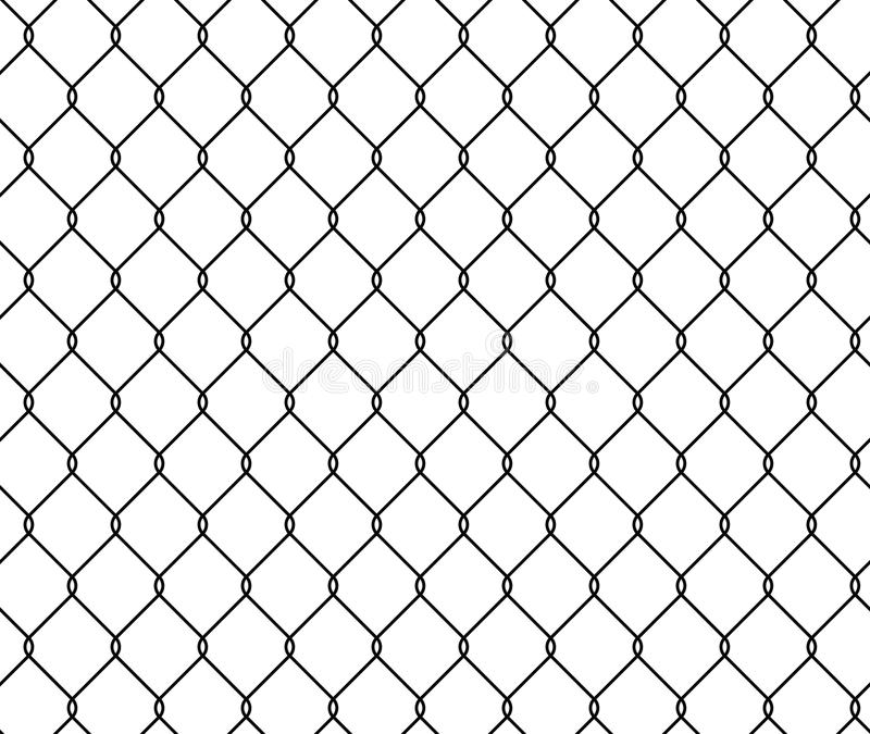 Seamless Texture Metal Wire Fence, Vector Illustration Grid ...
