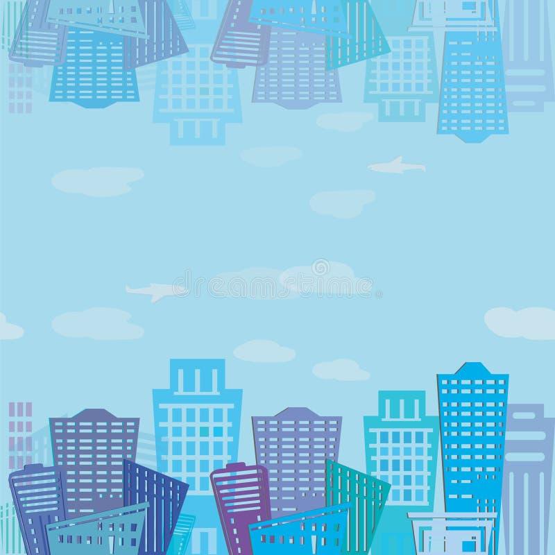 Free Seamless Texture. Modern Real Estate Buildings Design. Urban Landscape Texture Royalty Free Stock Photos - 43706918