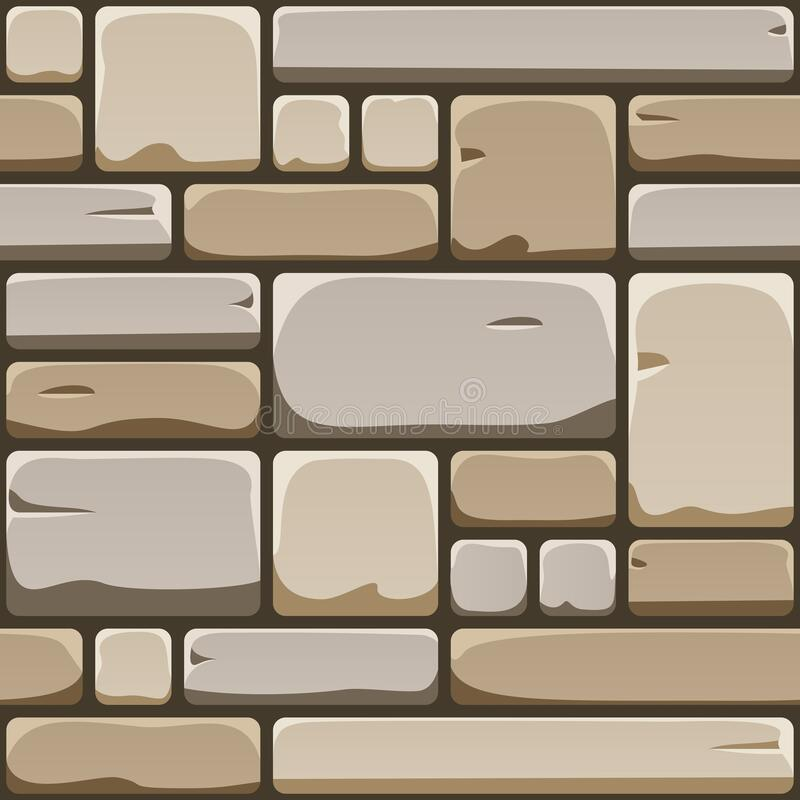 Free Seamless Texture Of Cube Rock Wall. Repeating Pattern Of Cobble Stone Pavement. Endless Background Of Old Brick Surface Royalty Free Stock Photo - 169805905