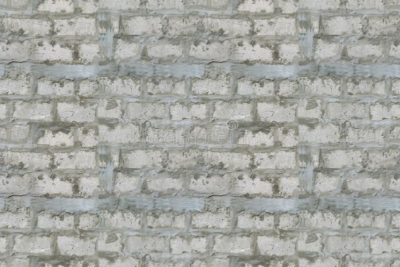 Seamless texture of old grey brick with cement,abstract. Background stock image