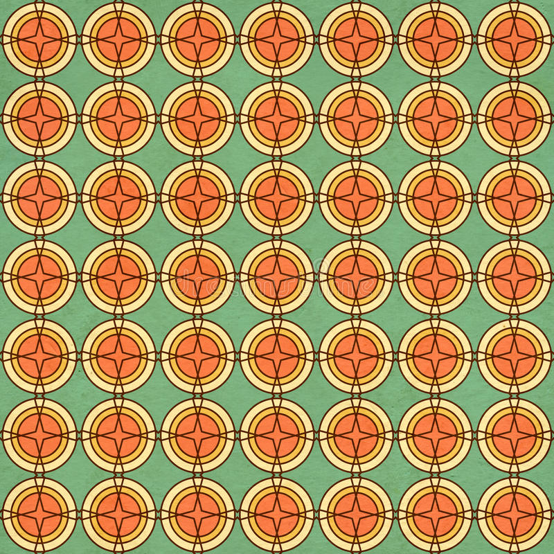 Seamless texture of the old paper with geometric ornamental pattern. Seamless texture of the old soiled paper with geometric ornamental pattern stock illustration