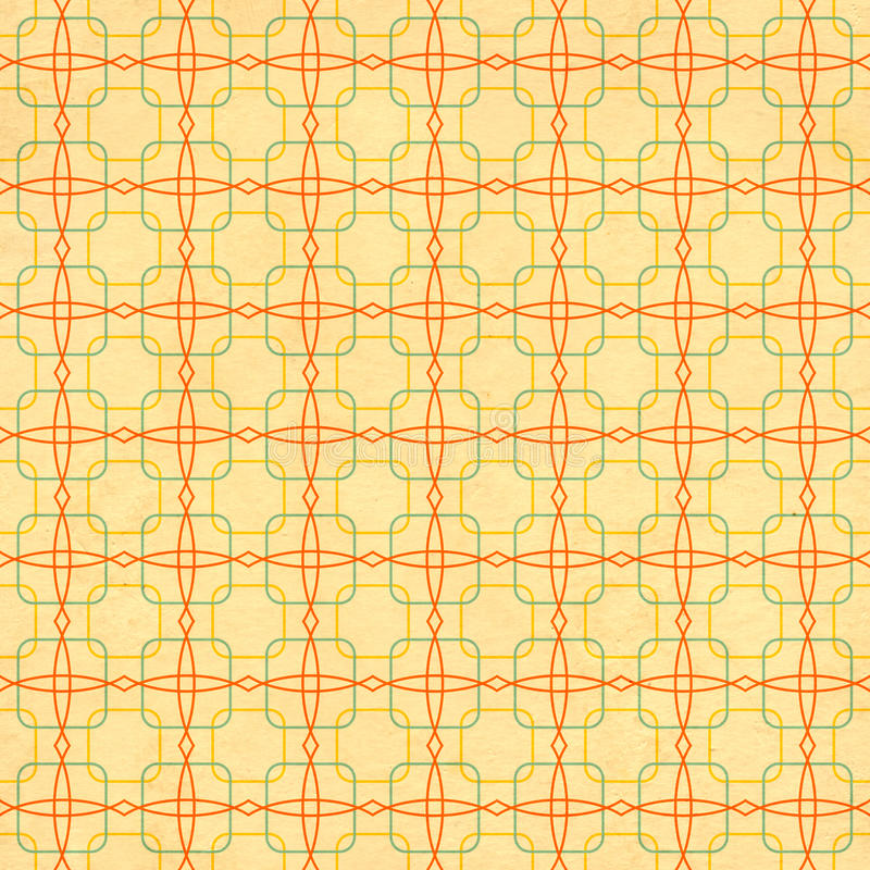 Seamless texture of the old paper with geometric ornamental pattern. Seamless texture of the old soiled paper with geometric ornamental pattern royalty free illustration