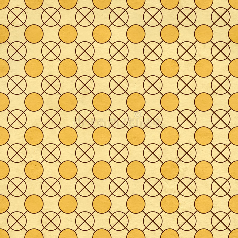 Seamless texture of the old paper with geometric ornamental. Seamless texture of the old soiled paper with geometric ornamental pattern royalty free illustration