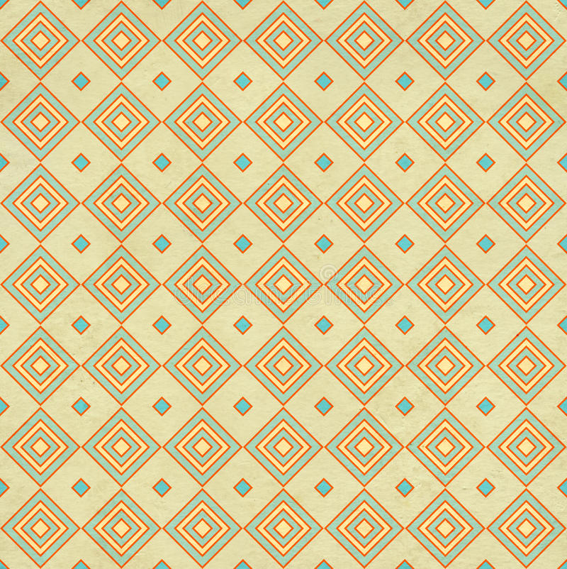 Seamless texture of the old paper with geometric ornamental. Seamless texture of the old soiled paper with geometric ornamental pattern vector illustration