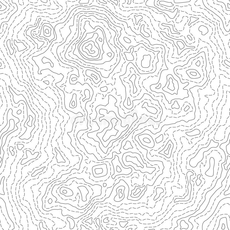 Free Seamless Texture Or Pattern Of Topographic Map 2 Stock Photography - 191309422