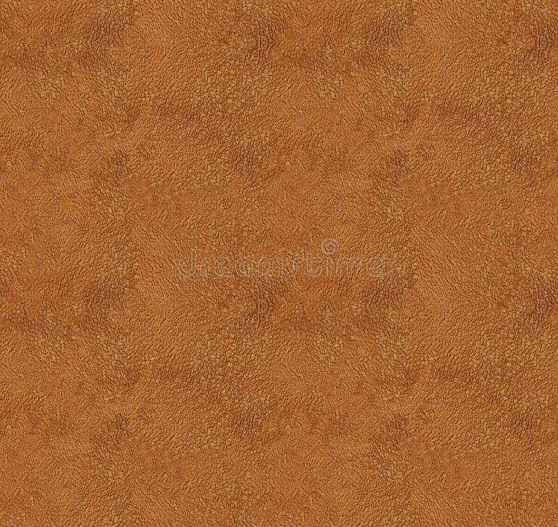 Seamless texture of orange microfiber or velvet textile. Abstract textile velour pattern. Seamless texture of orange microfiber or suede. Abstract textile velour stock illustration