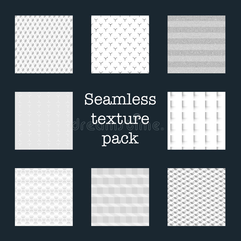 Seamless texture pack royalty free stock images