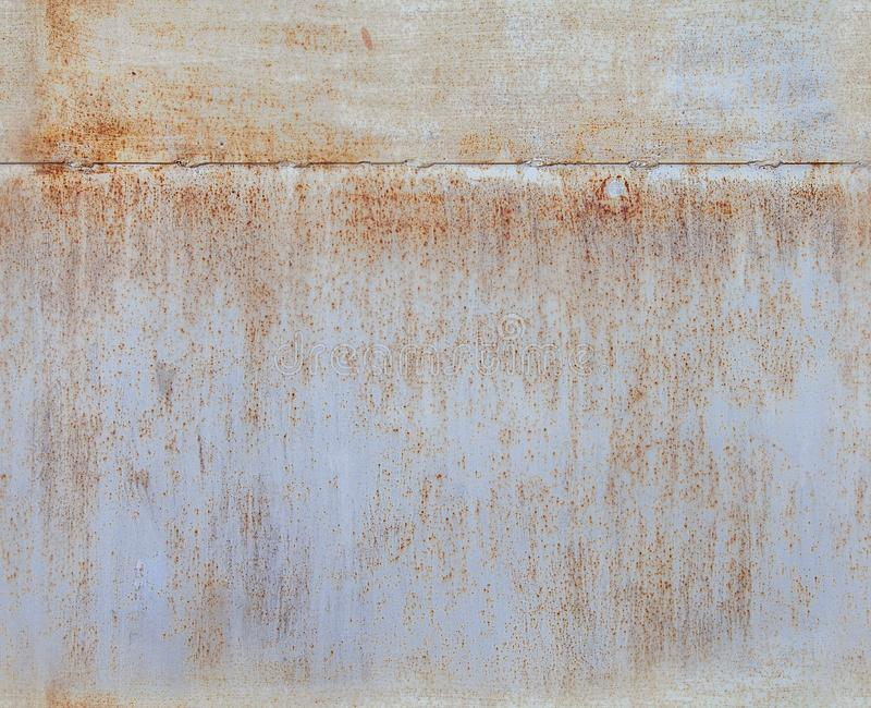 Seamless texture, painted iron, painted metal, rusty sheets of iron, spots of rust on iron stock image