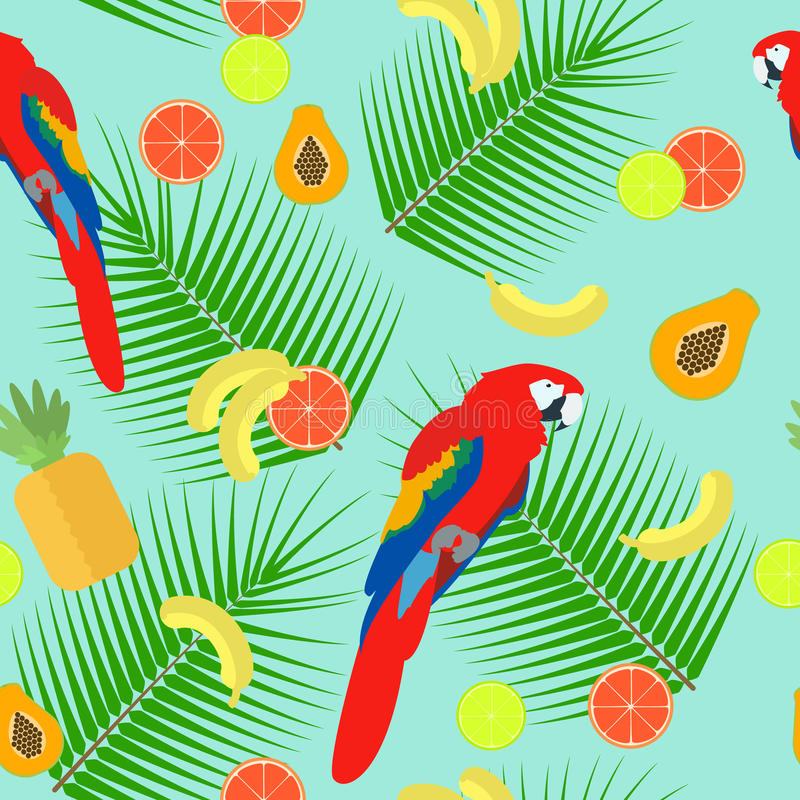 Seamless texture parrot on a blue background vector. Seamless texture parrot on a blue background , vector vector illustration