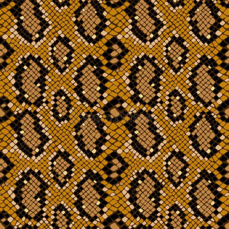 Seamless texture pattern of crocodile or snake skin leather, grunge background stock illustration
