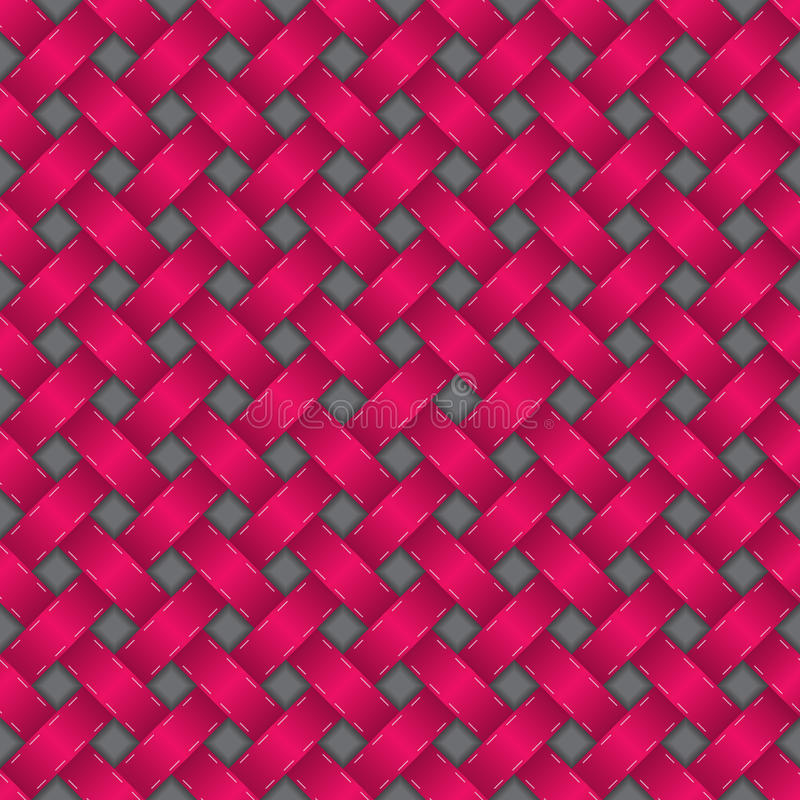 Seamless texture in pink with 3d effect vector illustration