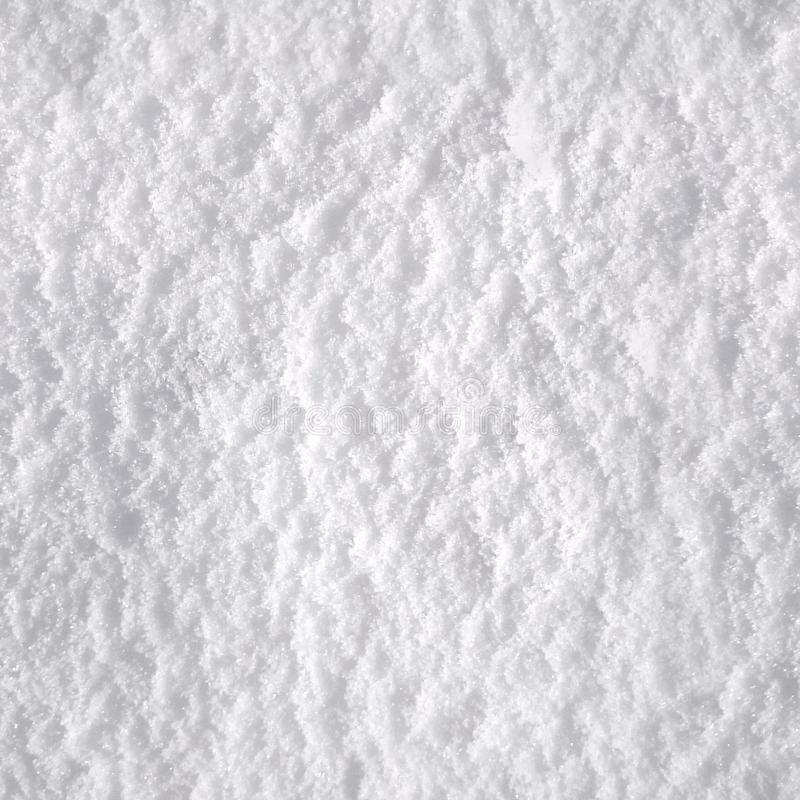 Seamless texture of pure white snow stock image