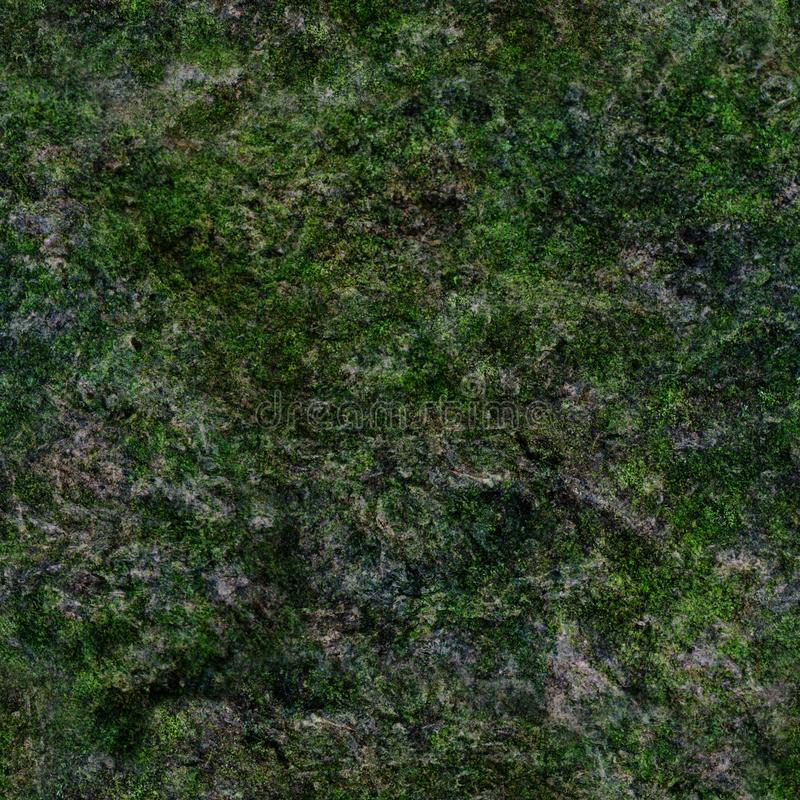 Seamless texture of rock with green moss royalty free stock photography