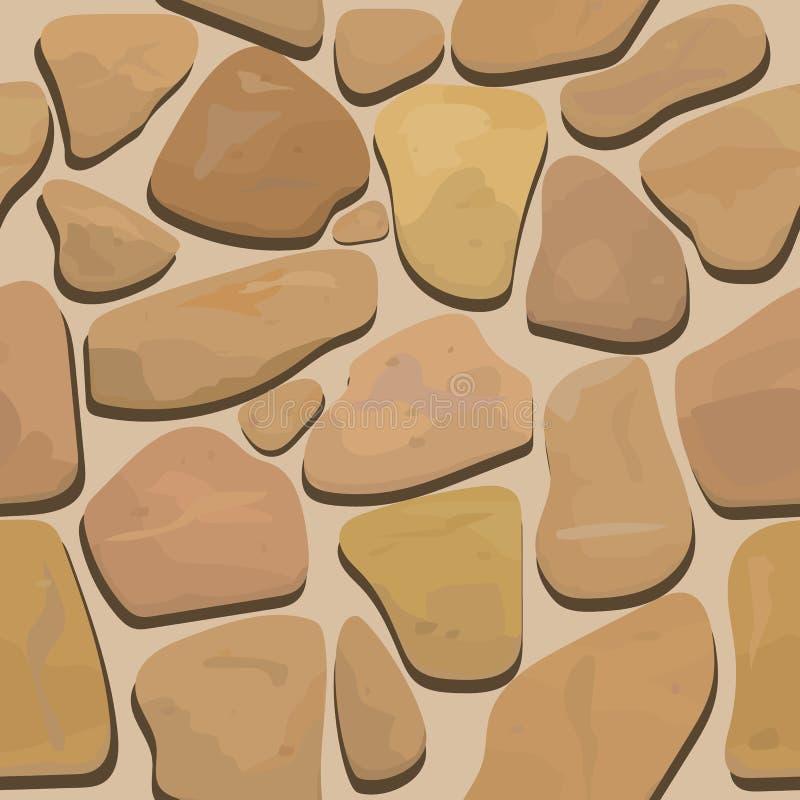 Seamless texture rock stone masonry stock illustration