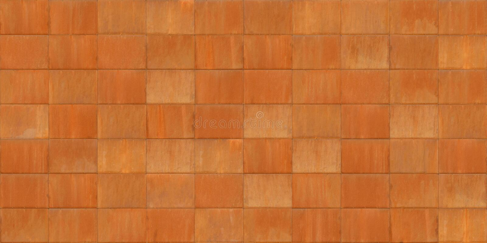 Seamless Texture Of Rusted Cor Ten Metal Sheets Stock
