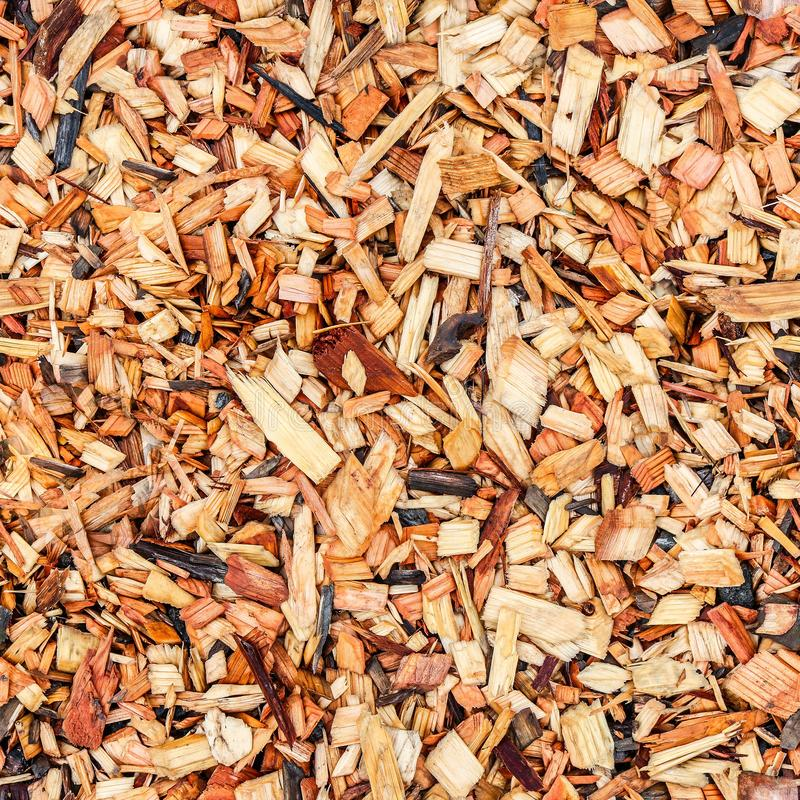 Seamless texture of sawdust of different sizes stock photography