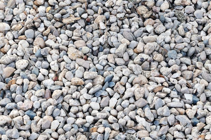 Seamless texture of small pebbles stock photography