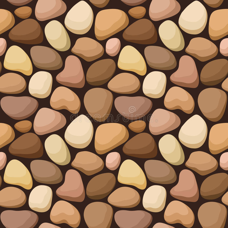 Seamless texture with stones. Seamless background with beige and brown stones vector illustration