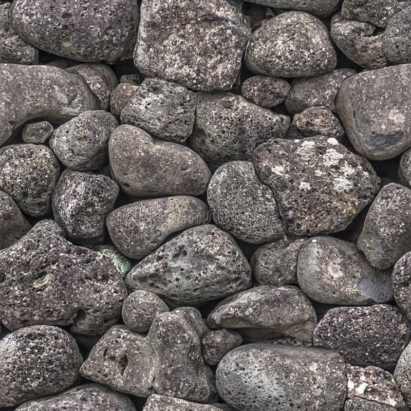 Seamless texture of stones of different sizes royalty free stock photo