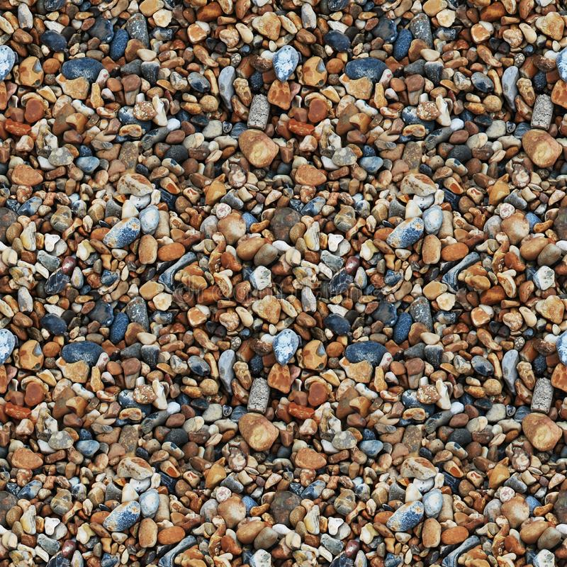 Seamless texture of stones of different sizes royalty free stock image