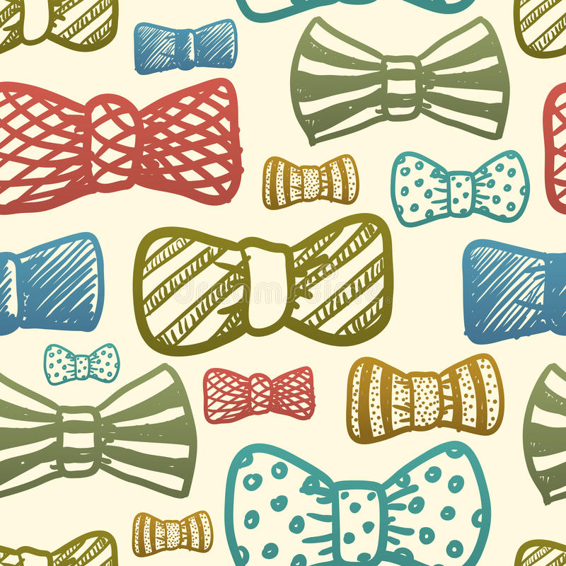 Download Seamless Texture With Vintage Bows Stock Illustration - Illustration of accessory, ribbon: 28660510