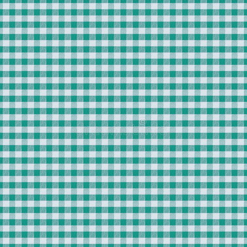 Seamless texture white fabric in green cage, background for design, cotton royalty free illustration