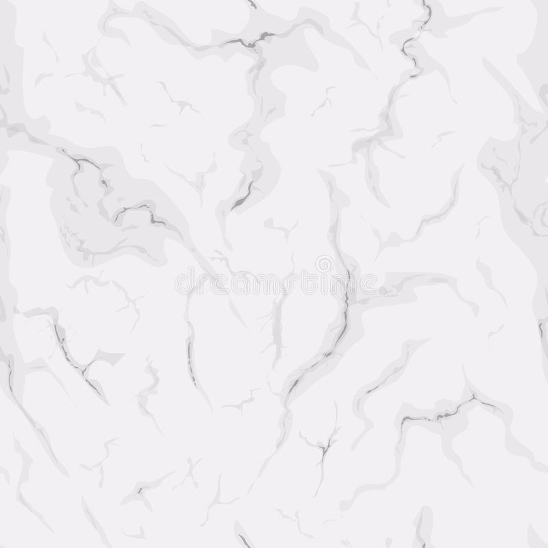Seamless texture of white marble. Natural pattern background for design. royalty free illustration