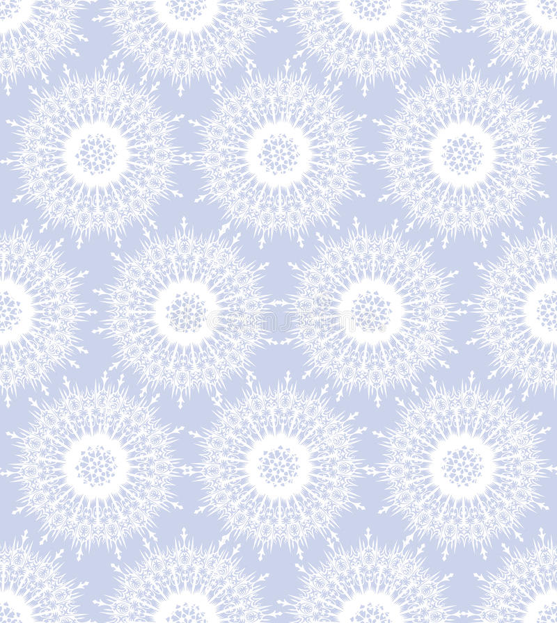 Download Seamless Texture With White Snowflakes Stock Vector - Image: 26019447