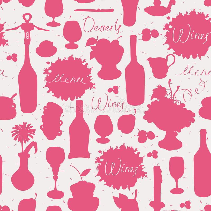 Seamless texture on wine vector illustration