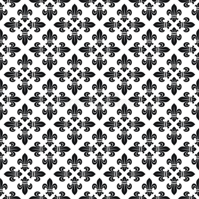 Free Seamless Texture With Fleur-de-lis Stock Photos - 9842243