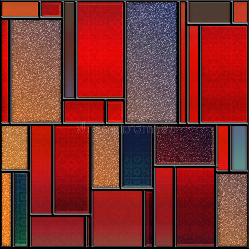 Seamless textured stained glass panel royalty free illustration