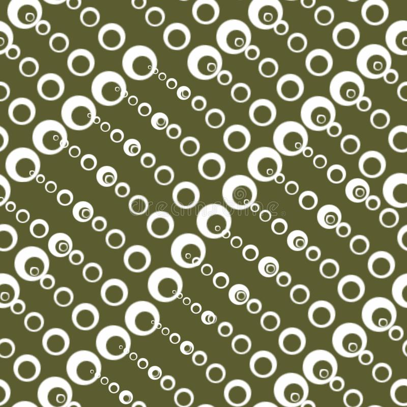 Seamless textures with circles of different sizes royalty free illustration