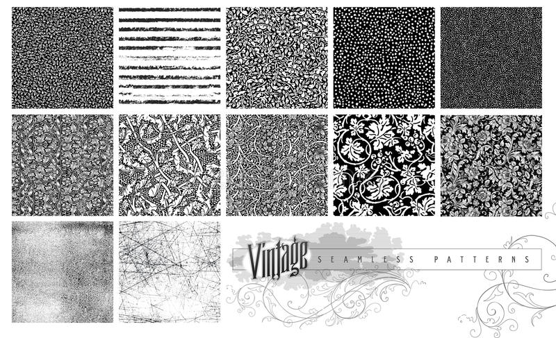 Seamless Textures and Patterns vector illustration