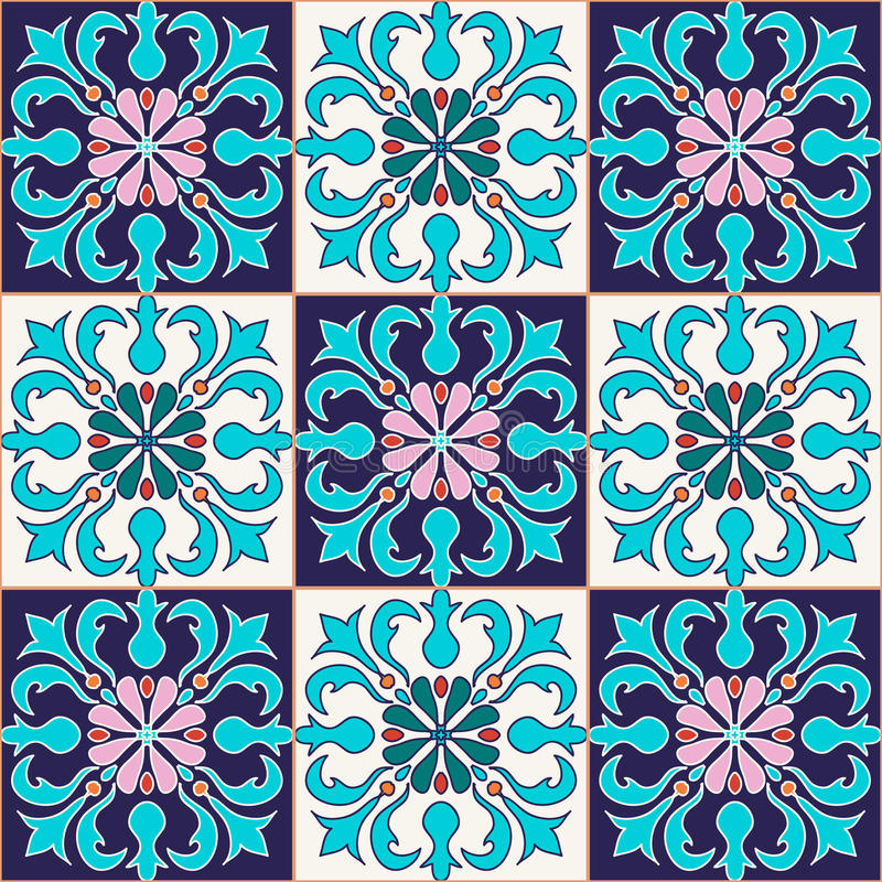 seamless texturvektor Härlig kulör modell för design och mode med dekorativa beståndsdelar royaltyfri illustrationer
