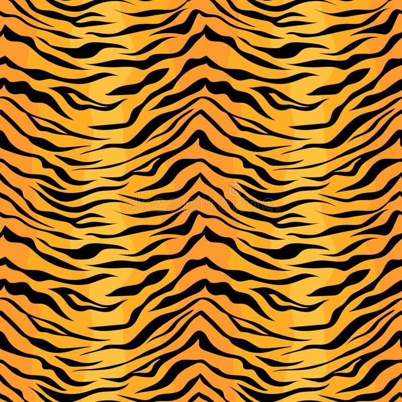 Free Seamless Tiger Stripe Pattern. Stock Images - 128535564