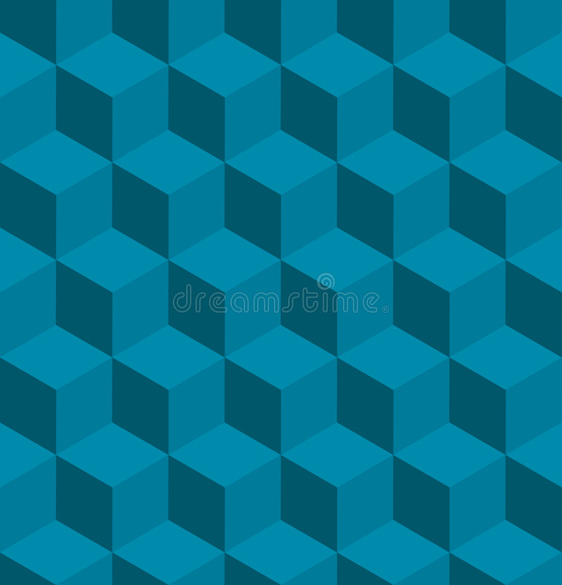 Seamless tilable isometric cube pattern royalty free illustration