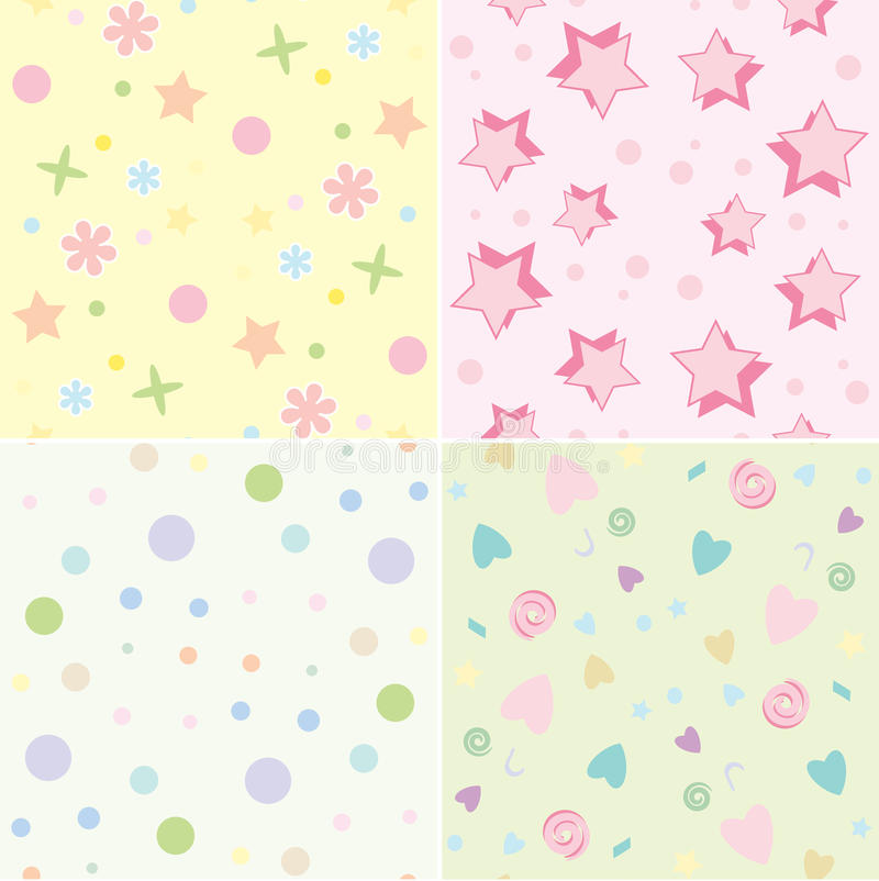 Seamless tile childrens backgrounds stock illustration